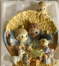"""Precious Moments from The Bradford Exchange """"Behold the Newborn King"""" Plate"""