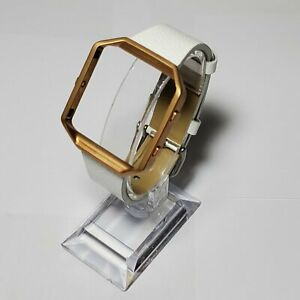 Fitbit Blaze Accessory replacement White Leather Wrist Band & Frame