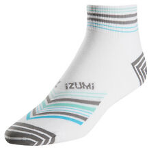 Pearl Izumi Women's Elite Bike Cycling Socks Stripe Grey Small (35-38 US 5-7)