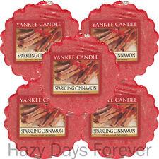 5 Yankee Candle Wax Tartas derrite espumoso Canela Navidad Navidad Invierno Perfumado