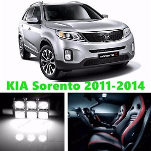 11pcs LED Xenon White Light Interior Package Kit for KIA Sorento 2011-2014