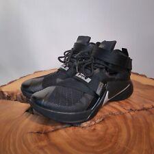 Nike LeBron Zoom Soldier IX 9 Shoes Size 11.5 Blackout Black Silver 749417-001