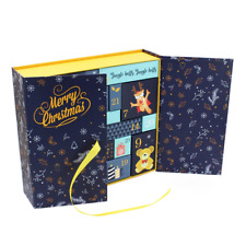 DIY Paper Advent Calendar Gift Box Christmas Countdown 24 Drawers Cabinet Toy