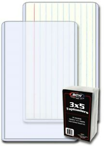 Pack of 25 BCW 3 x 5 Photo / Index Card Hard Plastic Topload Holders protectors