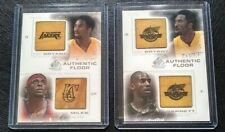 Kobe Bryant K.Garnett - Kobe D Miles 2000-01 SP Game Authentic Floor 2 Card Lot.