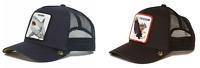 Goorin Bros Animal Farm Snapback Trucker Hat Cap Black Freedom, Navy Shark