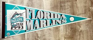 1993 - Florida Marlins - Inaugural Year Team Pennant 30in - Great Collectible