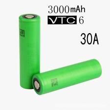 2x 3.7V 3000mAh 18650 Li-ion Batería para Sony VTC6 Dren alto batería recargable