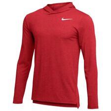Nike Men's Hyper Dry Hooded Long Sleeve Top Mens XL New Red