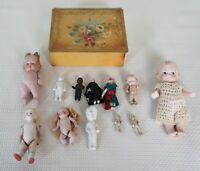 12 Antique Bisque German Jointed Dolls & Frozen Charlotte Dolls GREAT LOT!