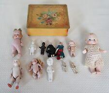 12 Antique Bisque German Jointed Dolls & Frozen Charlotte Dolls GREAT LOT!
