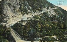 1907-1915 Postcard; Climb from Eaton's Canyon Auto Road to Mt. Wilson CA Posted