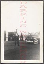 Vintage Car Photo Man w/ Snapshot Camera & 1941 Chrysler Automobile 664631