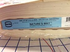 "47/48"" NATURE'S WAY 100%Cotton Unbleached Muslin RocLon Printing/Dying Friendly"