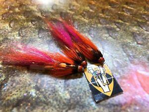 3 V Fly Ultimate Calvin Shrimp Copper Tube Salmon Flies & Hooks All Sizes