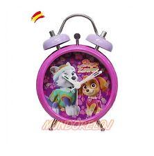 Reloj Despertador Skye y Everest  Paw Patrol La Patrulla Canina (2/48 RD-02-PW)