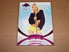 2014 Benchwarmer CASSANDRA LYNN #80 Hockey Pink Foil SP/5 PLAYBOY Playmate '06