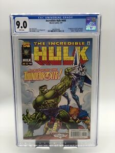 Incredible Hulk #449 CGC 9.0 White Pages 1st Thunderbolts Appearance Marvel