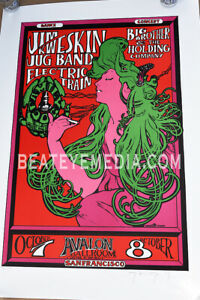JANIS JOPLIN-RICK GRIFFIN-GRATEFUL DEAD-COMIC ART-CONCERT POSTER-STANLEY MOUSE