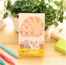 Mignon Kawaii Cat Kitty Paw page Drapeau Sticky notes Planificateur autocollants scrapbooking