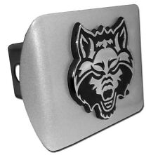arkansas state logo all metal brushed chrome trailer hitch cover made in usa