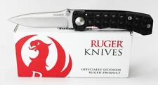 SALE Ruger CRKT Go-N-Heavy Compact Knife Black Handle Stonewash Plain Edge R1803