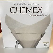NEW CHEMEX Bonded Coffee Filter Squares 100 Count FS-100