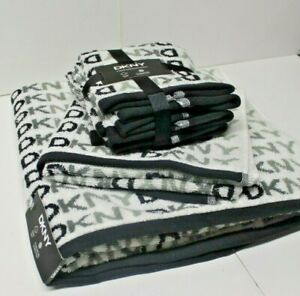 DKNY Home Set Towels Bath Hand White Designer BNWT DW12 Authentic Genuine