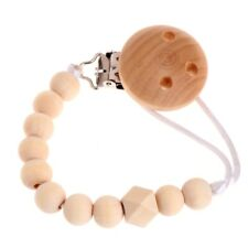 Baby Infant Toddler Dummy Pacifier Soother Nipple Wooden Chain Clip Holder DIY