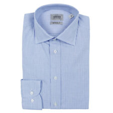 """Armani Callezioni- Navy/Blue Check Shirt - 15""""/38cm - *NEW WITH TAGS* RRP £125"""