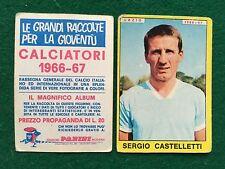 CALCIATORI 1966/67 66/1967 LAZIO CASTELLETTI Figurina Sticker Panini (NEW)