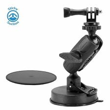 Arkon Heavy-Duty Sticky Suction Mount Holder for GoPro HERO Action Cameras