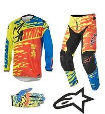 Monos y conjuntos de motocross color principal azul