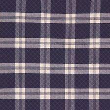 Laura Ashley LA1183 ROADHOUSE CHECK INDIGO Blue Plaid Drapery Sewing Fabric