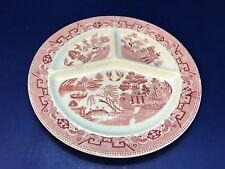 Pink Willow Transferware Societe Ceramique Maestricht Holland Grill Dinner Plate