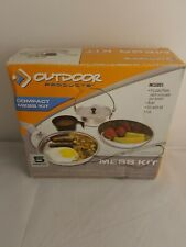 Outdoor Products 5 Piece Compact Mess Kit Camping Hiking Campfire Cook Set NIB
