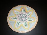 "Vintage Mackenzie Childs 11"" Hand Painted Pottery Plate Victoria and Richard"