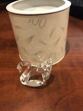 SWAROVSKI SCS Silver Crystal 100 Year Anniversary Small Swan with Original Box!