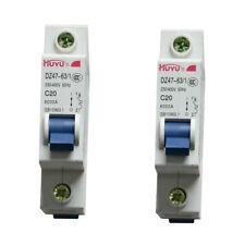 Pack of 2 , 20A 230V/400V~ 50HZ Mini Circuit breaker MCB C20 C TYPE