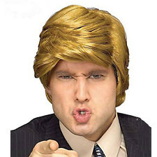 Donald Trump Style Toupee Hair Wig Blond Hair President Male Short Fans HOT
