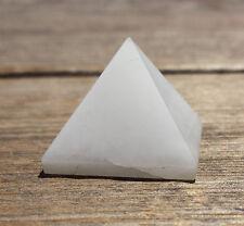 NATURAL WHITE AGATE SMALL GEMSTONE PYRAMID 20-22mm