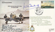 B35 WWII WW2 40th Ann VJ RAF cover signed Wg Cdr LUCAS & COLONEL HENRY BROWN