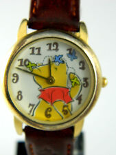 WINNIE THE POOH ANIMATOR  UNISEX WATCH /LEATHER  BAND
