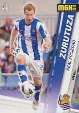 N°284 DAVID ZURUTUZA FRANCE REAL SOCIEDAD OFFICIAL TRADING CARD PANINI LIGA 2013