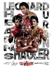 Fabulous Four Boxing WH Poster 24x36 4LUVofBOXING Duran Hagler SRL Hearns