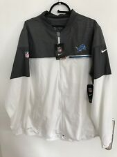 Nike Detroit Lions White/Gray Champ Drive Flash Hybrid Full-Zip Jacket