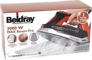 Beldray BEL0562R Max Pro 3000W Steam Iron Ceramic Soleplate Anti-Calc Self-Clean
