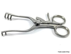 Weitlaner retractor SHARP Prongs wound hook retractors 11 cm 2x3 surgical spread
