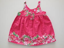 Origami baby girl pink cotton dress size 0 Fits 6-12 months EUC