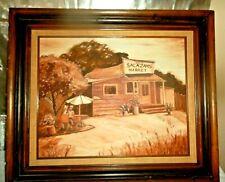 """Vintage Landscape Art, Original Oil Painting on Canvas, Signed Framed 27"""" X 22"""""""